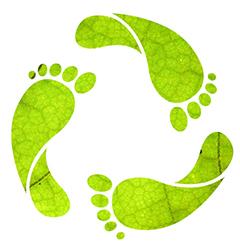 Groene voetstap